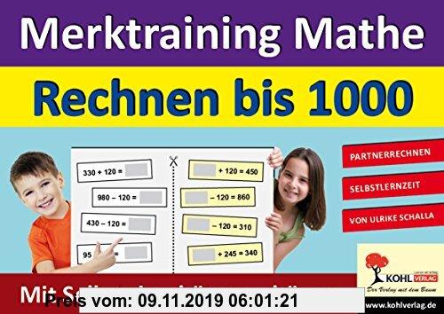 Gebr. - Merktraining Mathe - Rechnen bis 1000: Partnerrechnen mit Selbsteinschätzungsbögen