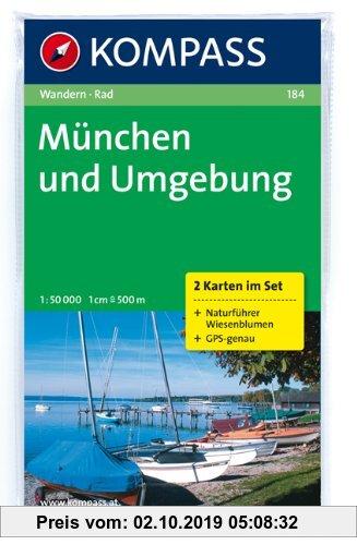 Gebr. - München und Umgebung: Wander- und Biketouren. 2-teiliges Set mit Naturführer. GPS-genau. 1 : 50 000