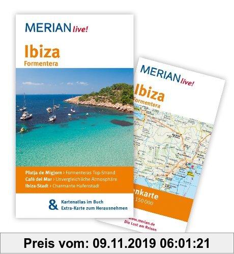 Gebr. - Ibiza Formentera: MERIAN live!  Mit Kartenatlas im Buch und Extra-Karte zum Herausnehmen