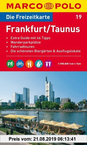 Gebr. - MARCO POLO Freizeitkarte Frankfurt, Taunus 1:100.000: Wanderparkplätze. Fahrradtouren. Die schönsten Biergärten und Ausflugslokale