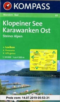 Gebr. - Klopeiner See, Karawanken Ost: Wanderkarte mit Kurzführer, Panorama und Radwegen. GPS-geeignet. 1:50.000