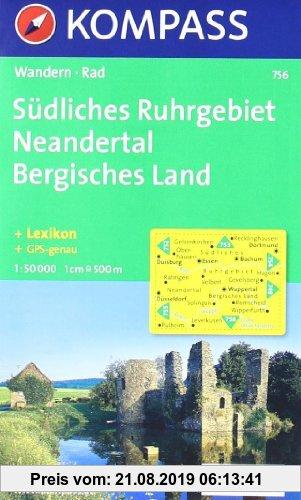 Gebr. - Südliches  Ruhrgebiet - Neandertal - Bergisches Land: Wandern / Rad. 1:50.000