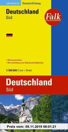 Gebr. - Falk Länderkarte Deutschland Süd 1:500 000