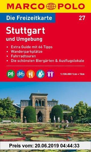 Gebr. - MARCO POLO Freizeitkarte Stuttgart und Umgebung 1:100.000