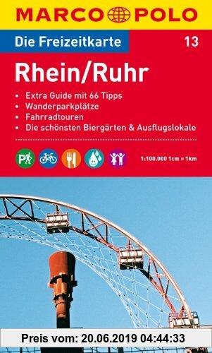Gebr. - MARCO POLO Freizeitkarte Rhein/Ruhr 1:100.000