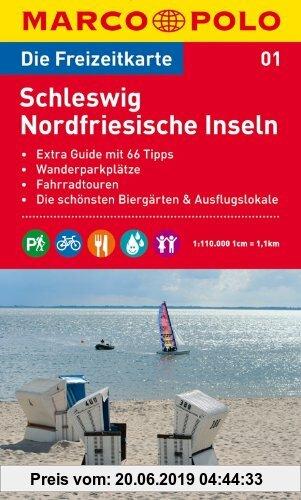 Gebr. - MARCO POLO Freizeitkarte Schleswig, Nordfriesische Inseln 1:110.000