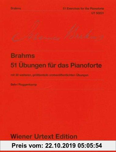 Gebr. - 51 Übungen für das Pianoforte: mit 30 weiteren, größtenteils erstveröffentlichten Übungen. WoO 6. Klavier. (Wiener Urtext Edition)