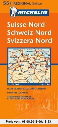 Gebr. - Suisse Nord. Schweiz Nord. Svizzera Nord. 1 : 200 000: Strassenkarte mit touristischen Hinweisen
