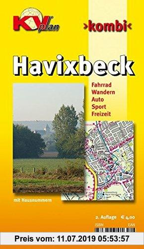 Gebr. - Havixbeck: 1:10.000 Ortspläne mit Freizeitkarte 1:25.000 inkl. Radrouten und Wanderwegen der Baumbergeregion (KVplan Münsterland-Region)