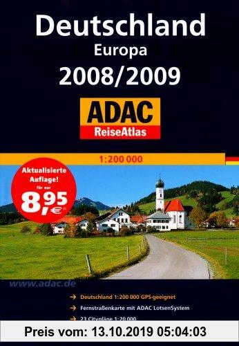 Gebr. - ADAC ReiseAtlas Deutschland Europa 2008/2009 1 : 200 000