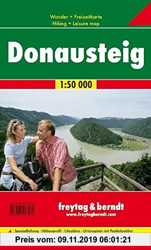 Gebr. - Freytag Berndt Wanderkarten, GPDST, Donausteig - Maßstab 1:50 000