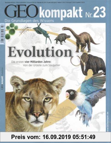 Gebr. - GEO Kompakt 23/10: Evolution - Die ersten vier Milliarden Jahre: Von der Urzelle zum Säugetier: 23/2010