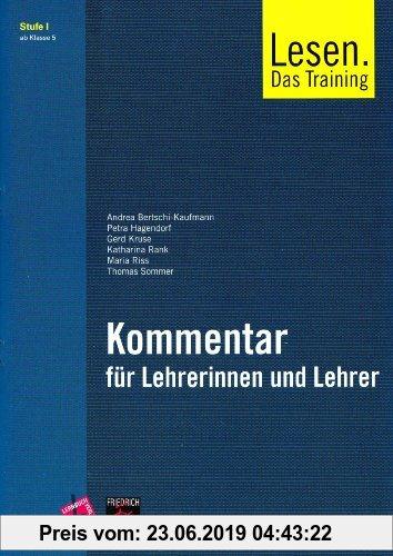 Gebr. - Lesen. Das Training / Kommentar für Lehrerinnen und Lehrer inkl. Audio-CD: Stufe I . Ab Klasse 5
