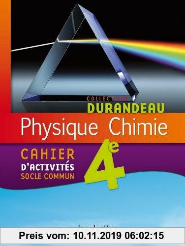Gebr. - Physique-chimie 4e - cahier d'activités socle commun